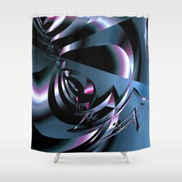 Abstract 347 Shower Curtain