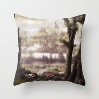 rogue Throw Pillows featuring The Rogue by Rowye