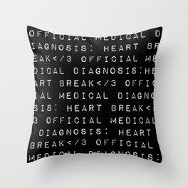 HEART</3BREAK black Throw Pillow
