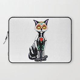 Sugar Skull Kitty Cat Laptop Sleeve