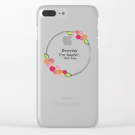 Floral - Hustlin' Clear iPhone Case