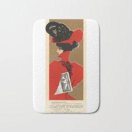 Belle Epoque vintage poster, Zlata Praha Bath Mat