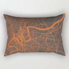 Brisbane Map Rectangular Pillow