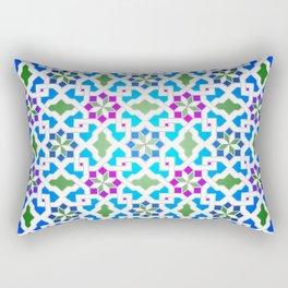 Beautiful oriental flower pattern 7 blue, green Rectangular Pillow