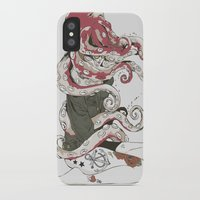 octopus iPhone & iPod Cases featuring My head is an octopus by Huebucket