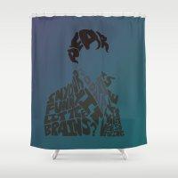 sherlock Shower Curtains featuring Sherlock by Rebecca McGoran