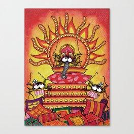 Yoga Spider Canvas Print