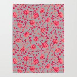 Watercolor Peonies - Coral Poster