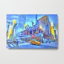 Construction New York Pop Art Metal Print