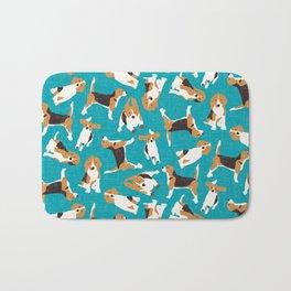 beagle scatter blue Bath Mat