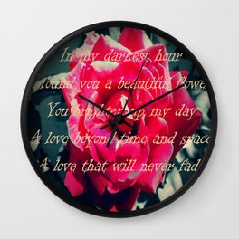 A rose by antoher name Wall Clock