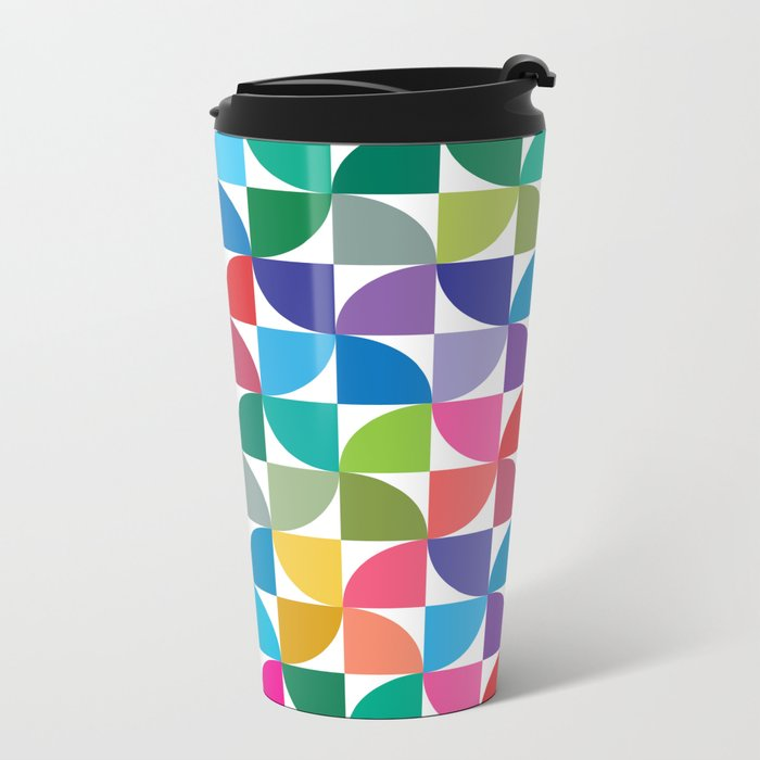 Geometrical work - Colours rotation Metal Travel Mug