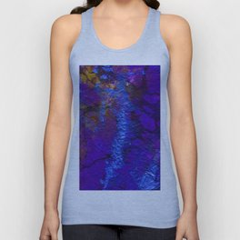 Purple Blue abstract marble Unisex Tank Top