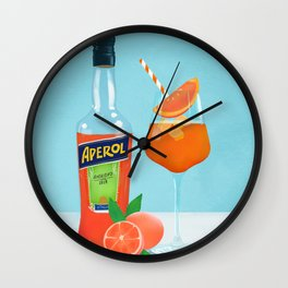 Aperol spritz, Cocktail Wall Clock