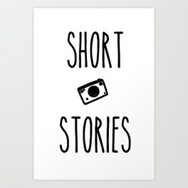 Short Stories Art Print