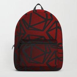 D20 Pattern - Red Black Gradient Backpack