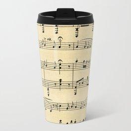 Antique Sheet Music Travel Mug