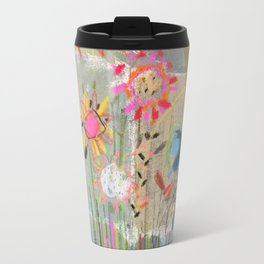 fresh pot of flowers for you Travel Mug