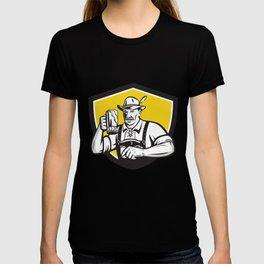 Bavarian Beer Drinker Oktoberfest Crest Retro T-shirt
