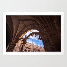 Cloisters of Jeronimos Monastery in Lisbon, Portugal Art Print