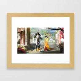 Morning stroll Framed Art Print