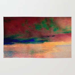 sunset/soft light/abstract/nature/sea Rug
