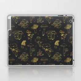 Golden mushrooms Laptop & iPad Skin