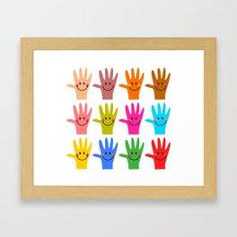 Happy Hands Framed Art Print
