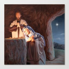 God in a Manger Canvas Print