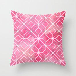 Geometric Crystals: Rose Petal Throw Pillow