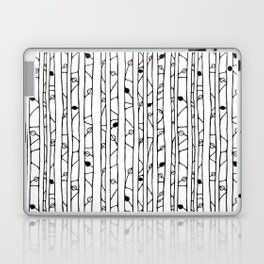 Into the Woods black on white Laptop & iPad Skin