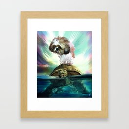 Play your cards Framed Art Print