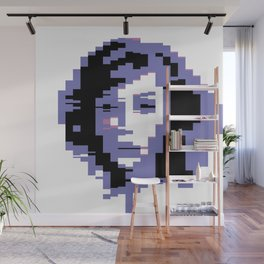 8 Bit Portrait of a Girl Wall Mural
