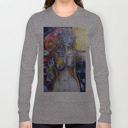 """Stigmata Puppets"".  - mixed media, original is stretched canvas 24' x 36"". Long Sleeve T-shirt"