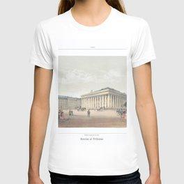 Paris art print Paris Decor office decoration vintage decor BOURSE et TRIBUNAL of Paris T-shirt