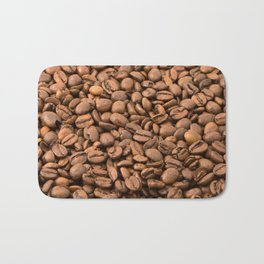 Roasted Arabica Coffee Beans - Brown Bath Mat