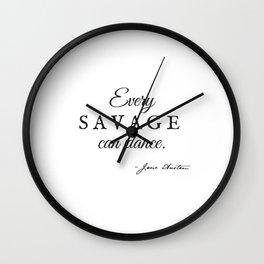 Invite Jane Austen to Dance Wall Clock