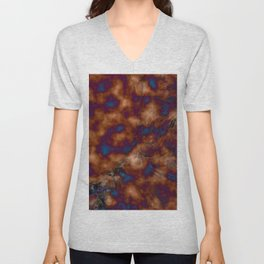 Brown vibration Unisex V-Neck