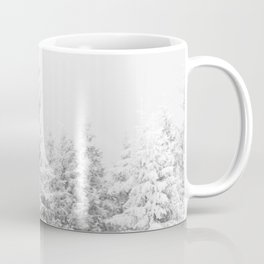 Chairlift Abyss // Black and White Chair Lift Ride to the Top Colorado Mountain Artwork Art Print Coffee Mug