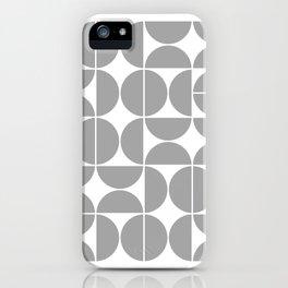 Mid Century Modern Geometric 04 Grey iPhone Case