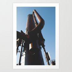 Gas Works Art Print