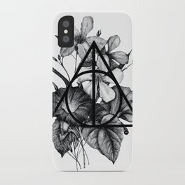 black flowers iPhone Case