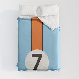 Gulf Racing Ford GT40 Le Mans 24 Hours Duvet Cover