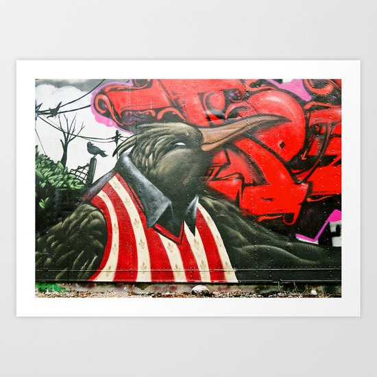 Urban Tacoma crow Art Print