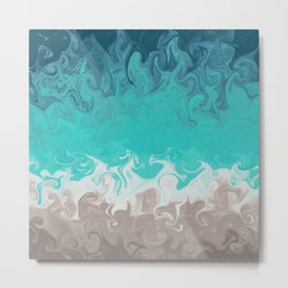 Swirly Sea Shore Metal Print