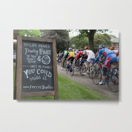 Bicycle race in Riverview Metal Print