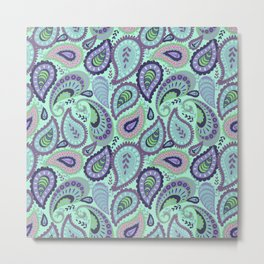 Ethno paisley pattern. Metal Print