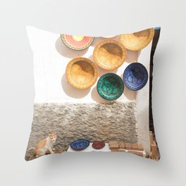 The Cat Is Not For Sale - Essaouira, Morocco Medina Throw Pillow