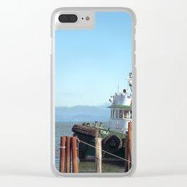 Pilot Boat Bejamin Foss, Columbia River, Astoria, Oregon Clear iPhone Case