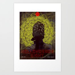 HelloHorror Issue 8 Cover - Victorian woman stares into the abyss Art Print